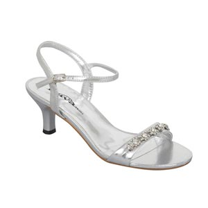 Lava Shoes Womens Lacey Silver Synthetic Sandals Prom and Evening Shoes