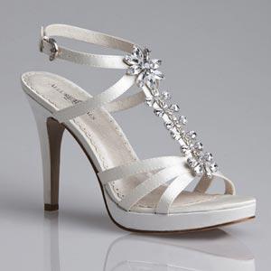 Allure Bridals Womens Shine DiamondWht Silk Satin Pumps Wedding Shoes