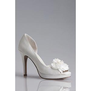Allure Bridals Womens Princess Ivory Silk Satin Sandals Wedding Shoes