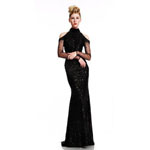 Johnathan Kayne Womens 403 Black Beaded  Prom Dresses