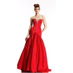 Johnathan Kayne Womens 486 Red Synthetic  Prom Dresses