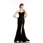 Johnathan Kayne Womens 489 Black Synthetic  Prom Dresses