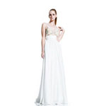 Johnathan Kayne Womens 500 White Chiffon  Prom Dresses