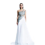 Johnathan Kayne Womens 503 White Chiffon  Prom Dresses
