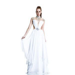 Johnathan Kayne Womens 506 White Chiffon  Prom Dresses