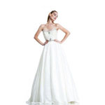 Johnathan Kayne Womens 511 Ivory Satin  Prom Dresses