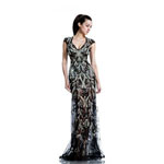 Johnathan Kayne Womens 521 Black Mesh  Prom Dresses