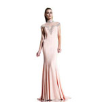 Johnathan Kayne Womens 523 Peach Jersey  Prom Dresses