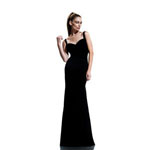 Johnathan Kayne Womens 532 Black Jersey  Prom Dresses