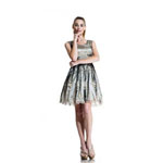 Johnathan Kayne Womens 563 BlackChampagne Lace  Prom Dresses