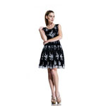 Johnathan Kayne Womens 563 BlackWhite Lace  Prom Dresses