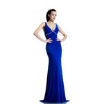 Johnathan Kayne Womens 565 Royal Jersey  Prom Dresses
