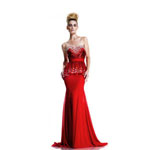 Johnathan Kayne Womens 579 Red Chiffon  Prom Dresses