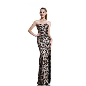 Johnathan Kayne Womens 517 ChampagneBlack Sequin  Prom Dresses