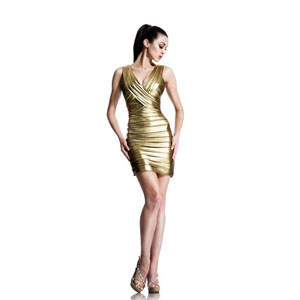 Johnathan Kayne Womens 531 Gold Jersey  Prom Dresses