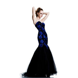 Johnathan Kayne Womens 547 BlackRoyal Sequin  Prom Dresses