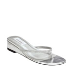 Dyeables Womens Chelsie Silver Metalllic Thong Wedding Shoes
