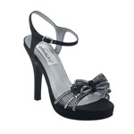 Dyeables Womens Pippa Black Satin Platforms Prom and Evening Shoes