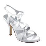 Dyeables Womens Claire White Satin Platforms Wedding Shoes