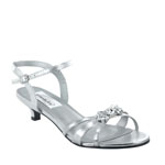 Dyeables Womens Penelope Silver Metallic Metalllic Sandals Prom and Evening Shoes