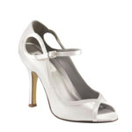 Dyeables Womens Tessa White Satin Pumps Wedding Shoes