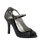Dyeables Womens Tessa Black Satin Pumps Prom and Evening Shoes