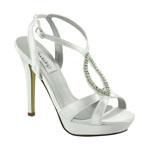 Dyeables Womens Hope White Satin Platforms Wedding Shoes