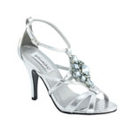 Dyeables Womens Heidi Silver Metallic Metalllic Sandals Prom and Evening Shoes