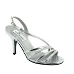 Dyeables Womens Jo Silver Metallic Metalllic Sandals Prom and Evening Shoes