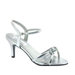Dyeables Womens Peach Silver Metallic Metalllic Sandals Prom and Evening Shoes