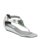 Dyeables Womens Cleo Silver Metallic Metalllic Sandals Prom and Evening Shoes