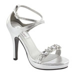 Dyeables Womens Lilac Silver Metalllic Sandals Prom and Evening Shoes
