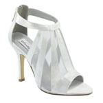 Dyeables Womens Lotus White Satin Sandals Wedding Shoes