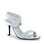 Dyeables Womens Best Bet Silver Glitter Sandals Prom and Evening Shoes