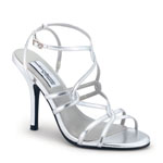 Dyeables Womens Runway Silver Metalllic Sandals Prom and Evening Shoes