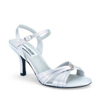 Dyeables Womens Natalie Silver Satin Sandals Prom and Evening Shoes