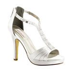 Dyeables Womens Riley White Satin Platforms Wedding Shoes