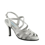 Dyeables Womens Paisley Silver sparkle Synthetic Sandals Prom and Evening Shoes