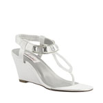 Dyeables Womens Mila White Satin Sandals Wedding Shoes