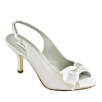Dyeables Womens Faye White Satin Sandals Prom and Evening Shoes