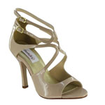Dyeables Womens Kiera Nude Patent Sandals Prom and Evening Shoes