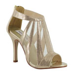 Dyeables Womens Lotus Champagne Metalllic Sandals Prom and Evening Shoes