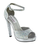 Dyeables Womens Nori Silver Beaded Sandals Prom and Evening Shoes