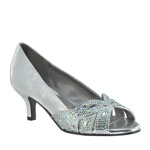 Dyeables Womens Tracy Silver Metalllic Sandals Prom and Evening Shoes
