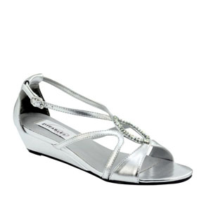 Dyeables Womens Harper Silver Synthetic Sandals Prom and Evening Shoes