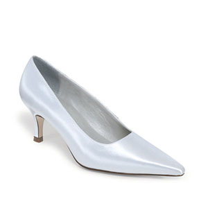 Dyeables Womens Gala White Satin Pumps Wedding Shoes