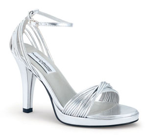 Dyeables Womens Gabby Silver Metalllic Sandals Prom and Evening Shoes