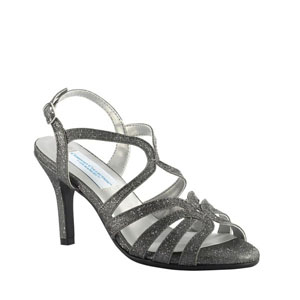 Dyeables Womens Paisley Pewter sparkle Synthetic Sandals Prom and Evening Shoes