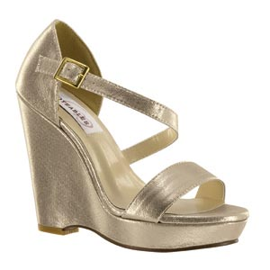Dyeables Womens Karen Nude Shimmer Metalllic Sandals Prom and Evening Shoes