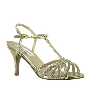 Dyeables Womens Lexi Gold Metallic Metalllic Sandals Prom and Evening Shoes